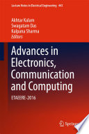 Advances In Electronics Communication And Computing