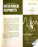 U.S. Government Research Reports