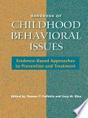 Handbook of Childhood Behavioral Issues