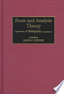 Form and Analysis Theory Book PDF