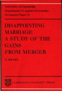 Disappointing Marriage
