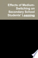 Effects of Medium Switching on Secondary School Students  Learning Book PDF