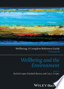 Wellbeing  A Complete Reference Guide  Wellbeing and the Environment