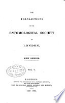 The Transactions of the Entomological Society of London Book