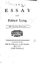 An Essay on Political Lying