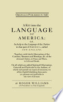 A Key Into the Language of America by Roger Williams,Howard M. Chapin PDF