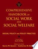 Comprehensive Handbook Of Social Work And Social Welfare Social Policy And Policy Practice
