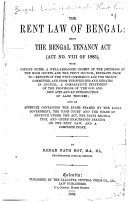 The Rent Law of Bengal