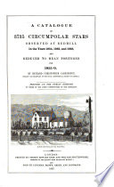 A Catalogue of 3735 Circumpolar Stars  observed at Redhill in the years 1854  1855  and 1856  and reduced to mean positions for 1855 0  By Richard Christopher Carrington