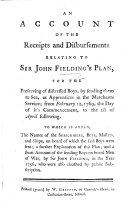 An account of the receipts and disbursements relating to Sir ...