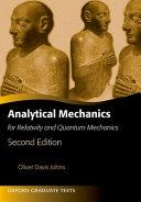 Cover of Analytical Mechanics for Relativity and Quantum Mechanics