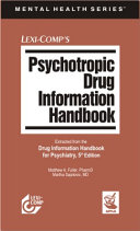 Psychotropic Drug Information Handbook Book