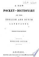 A new pocket dictionary of the English and Dutch languages Book PDF