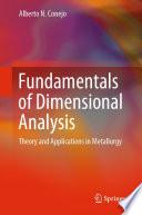 Fundamentals of Dimensional Analysis Book