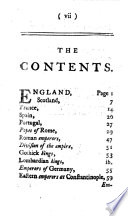 Successions and characters of the kings of England, Scotland, France, Spain, Portugal, Sardinia, Denmark, Sweden, Poland, Prussia; popes of Rome; emperors of Germany, Russia, Turkey, Constantinople; and the stadtholders of the United Provinces; who have reigned since the Christian æra, etc
