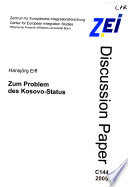 ZEI discussion paper  , Ausgaben 144-154