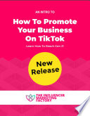 How To Promote Your Business On Tiktok