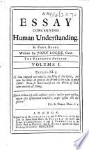 An Essay concerning Human Understanding     Eleventh edition  etc