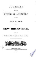 Journals of the House of Assembly of the Province of New Brunswick Book
