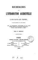 Recherches sur l'introduction accidentelle de l'air dans les veines ... ebook