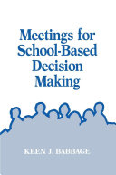 Meetings for School Based Decision Making