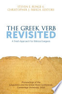 The Greek Verb Revisited Book