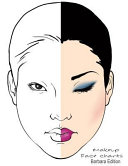 Makeup Face Charts Barbara Edition