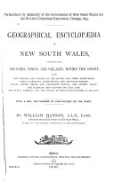 Pdf Geographical Encyclopædia of New South Wales