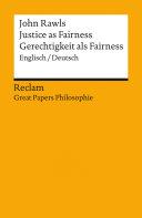 Justice as Fairness / Gerechtigkeit als Fairness (Englisch/Deutsch) Pdf/ePub eBook