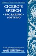 Pdf Cicero's Speech Pro Rabirio Postumo