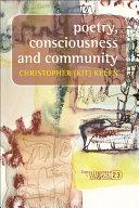 Poetry, Consciousness and Community Pdf/ePub eBook