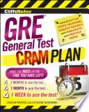 CliffsNotes GRE General Test Cram Plan