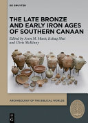 The Late Bronze and Early Iron Ages of Southern Canaan Pdf/ePub eBook