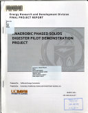 Anaerobic Phased Solids Digester Pilot Demonstration Project Book PDF