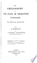 The Philosophy of the Plays of Shakespeare Unfolded Book PDF