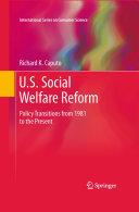 U S  Social Welfare Reform