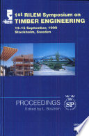 PRO 8: 1st International RILEM Symposium on Timber Engineering