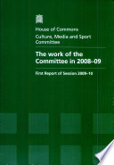 The Work Of The Committee In 2008 09