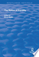 The Notion of Equality