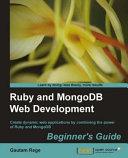Pdf Ruby and MongoDB Web Development Beginner's Guide Telecharger