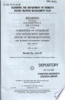 Examining The Department Of Energy S Excess Uranium Management Plan