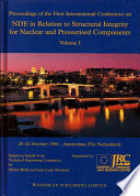NDE in Relation to Structural Integrity for Nuclear and Pressurised Components