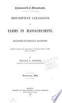 Descriptive Catalogue Of Farms In Massachusetts