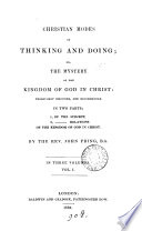 Christian Modes Of Thinking And Doing Or The Mystery Of The Kingdom Of God In Christ