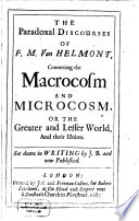 The Paradoxal Discourses Of F M Van Helmont
