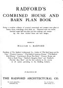 Radford s Combined House and Barn Plan Book