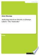 Analyzing American Identity in Jhumpa Lahiri s  The Namesake