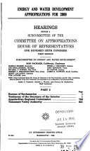 106 1 Hearing  Energy and Water Development Appropriations for 2000  Part 3  March 25  1999 Book