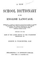 A New School Dictionary of the English Language