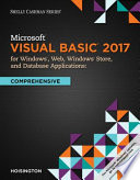 """Microsoft Visual Basic 2017 for Windows, Web, and Database Applications: Comprehensive"" by Corinne Hoisington"
